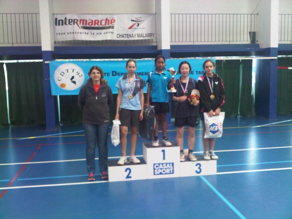 Tournoi Féminin de Tennis de Table des Hauts de Seine - Podium 5-9