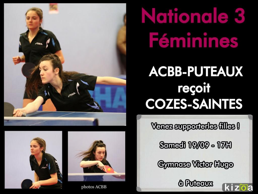 Nationale 3 Féminines 19/09/2015