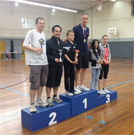 Podium 2016 Tournoi de double Consolante
