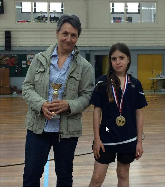 Podium 2016 du Tournoi Féminin (Corinne absente)